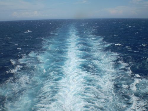 ship wake wake sea