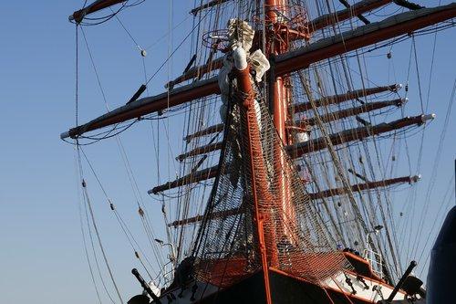 shipping  ship  sail training ship
