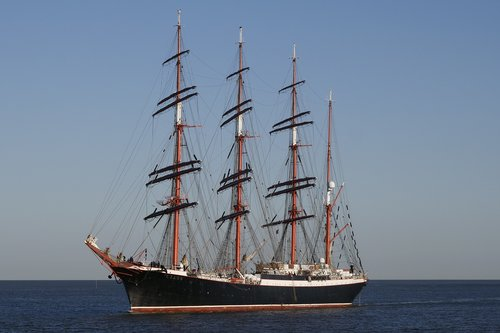 shipping  sail training ship sedov  the four-masted barque
