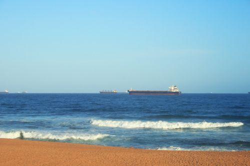Ships Lying At Sea