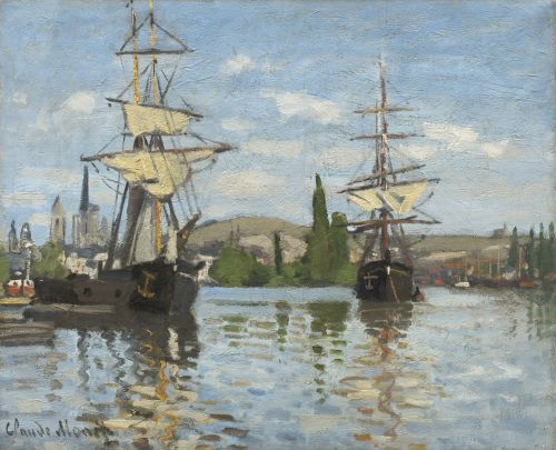 Ships Riding On The Seine At Rouen,