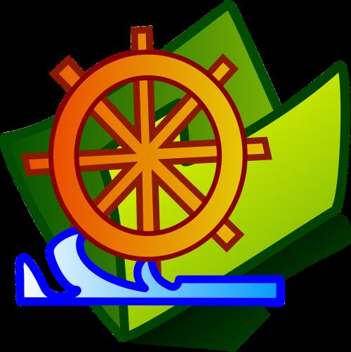 ship's wheel steering wheel nautical