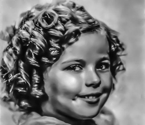 shirley temple - female portrait hollywood