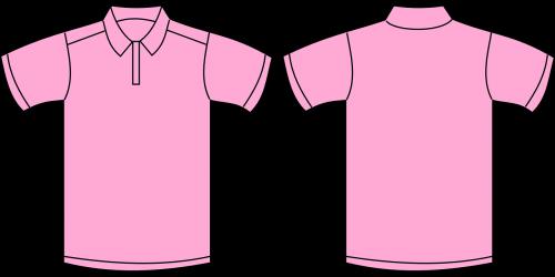 shirt pink template