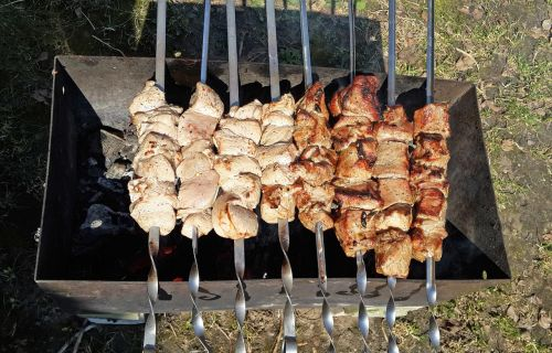 shish kebab mangal fried meat