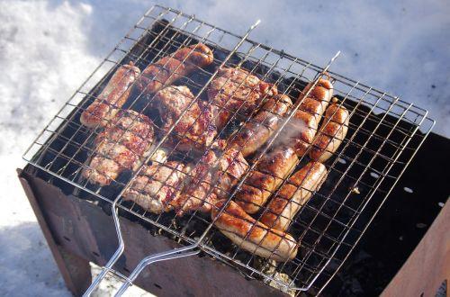 shish kebab sausages picnic