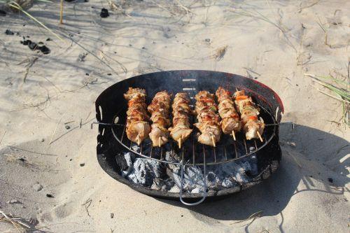 shish kebab sand vacation