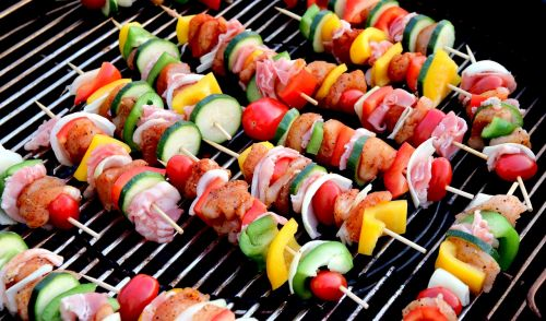 shish kebab meat skewer food