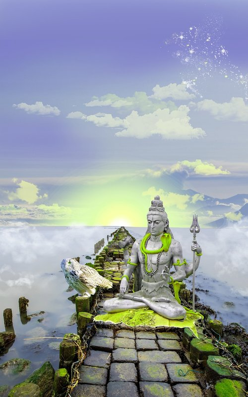 shiva  lord shiva  photomontage