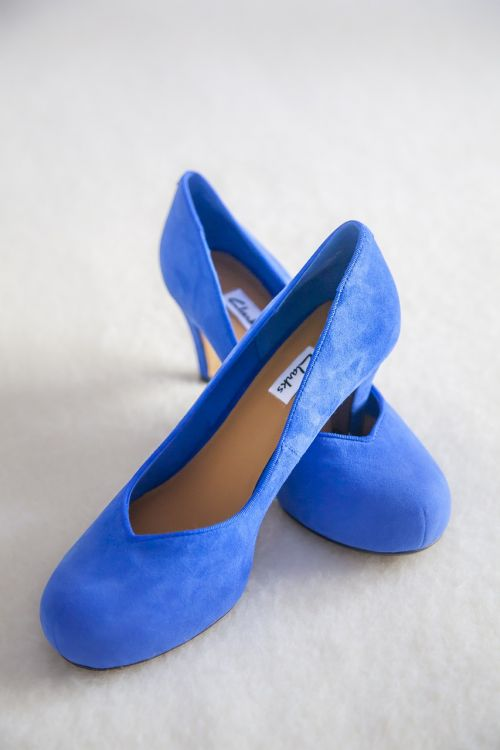 shoe blue color