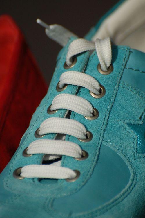 shoe shoelace green