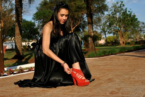 shoe red shoe black dress