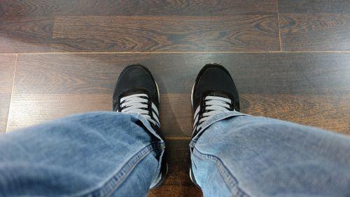 shoe jeans floor