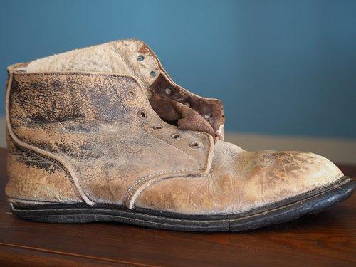 shoe  old  worn