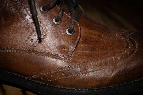 shoe  leather shoe  brown