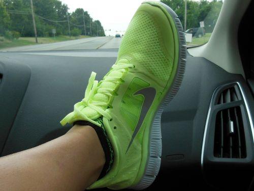 shoe nike foot