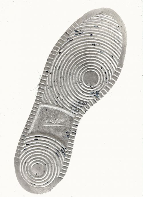 shoe sole batch print