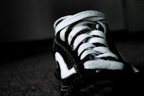 shoe black white dark