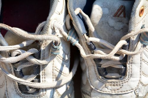 shoe laces ruined sneakers
