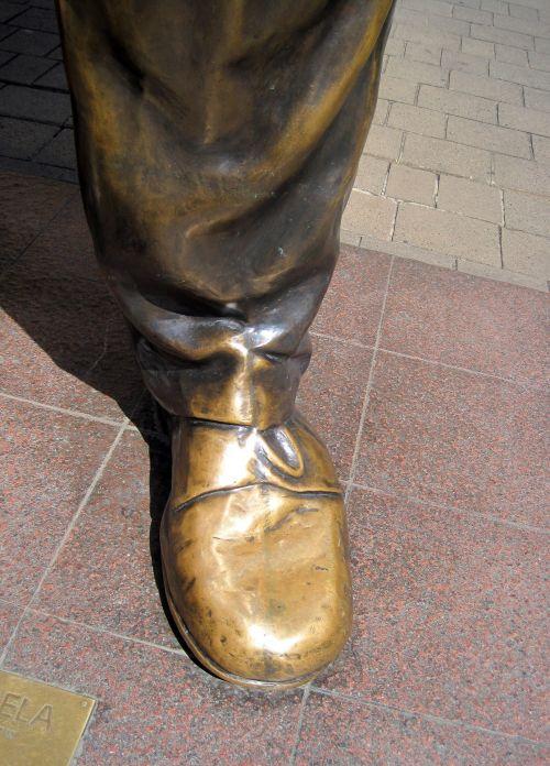 Shoe On Nelson Mandela Statue