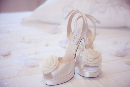 shoes wedding dresses sugared almonds