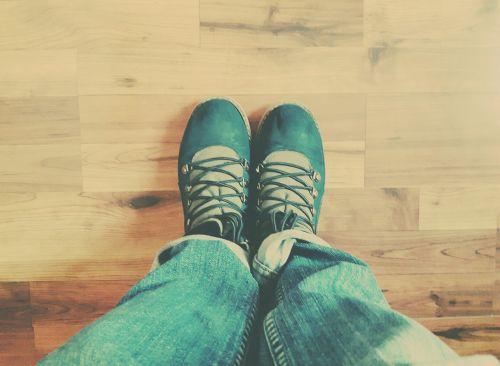 shoes floor parquet
