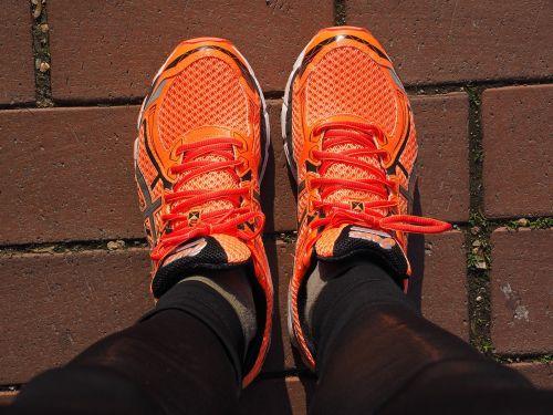 shoes running shoes orange