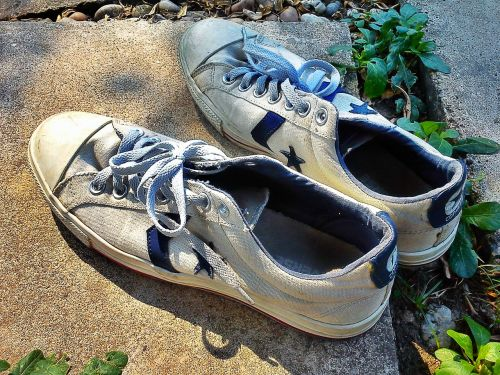 shoes canvas old
