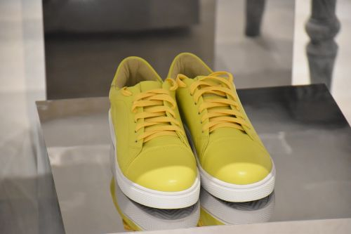shoes yellow color