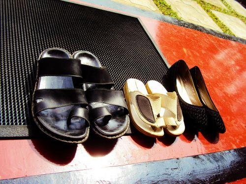 shoes footwear door mat