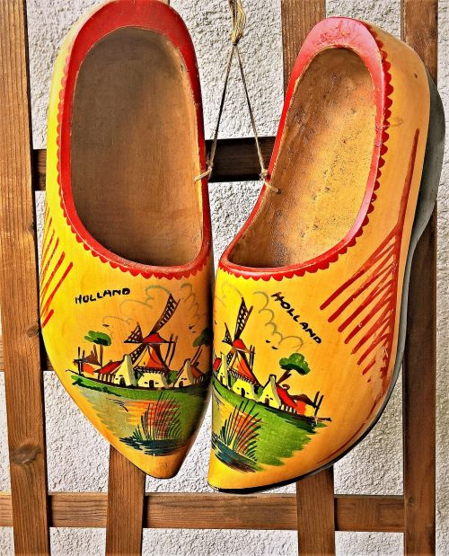 shoes dutch clogs wooden slipper