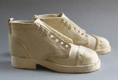 shoes ceramics sculpture