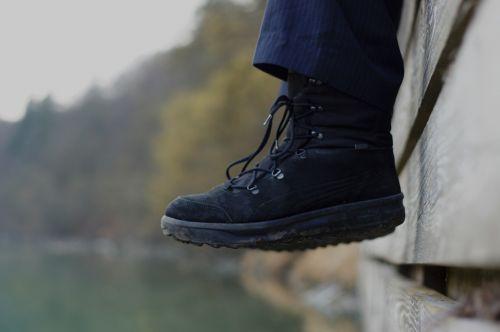 shoes worn shoelaces