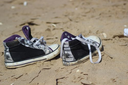 shoes sand beach
