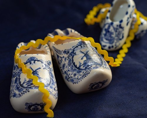 shoes  ceramic shoes  dutch memento