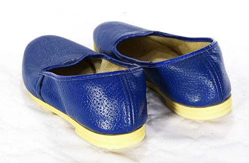 shoes blue slippers