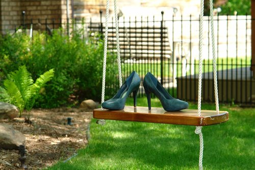 shoes  swing  outdoors