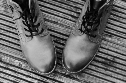 shoes  black and white  winter boots