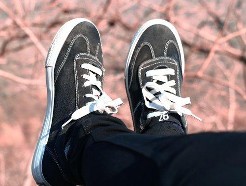 shoes  black  lace