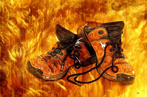 shoes old flame