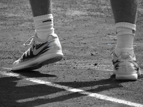 shoes tennis racket