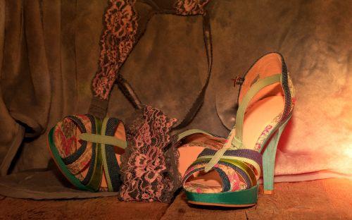 shoes high heels underwear