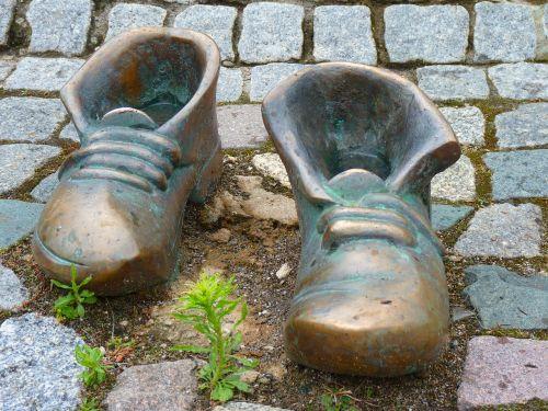 shoes bronze shoelace