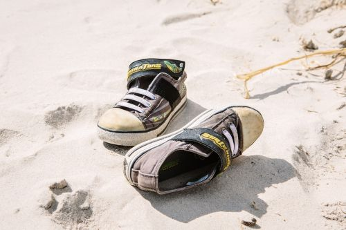shoes sneakers beach