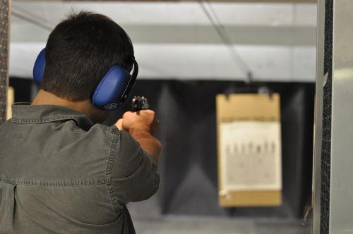 shooting gun handgun
