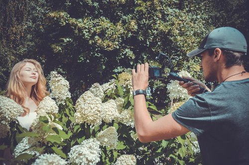 shooting  videographer  model