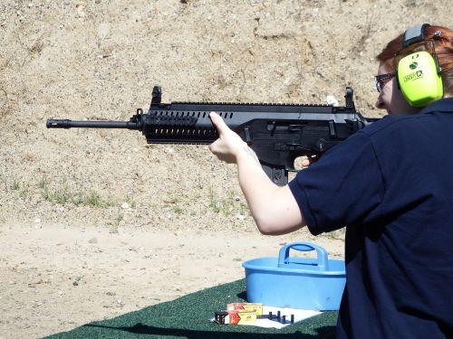 shooting ar woman