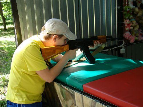 shooting gallery attraction kalashnikov