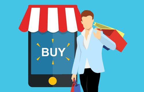 shopping  online  mobile