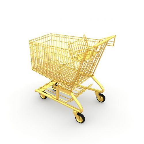shopping cart shopping chrome steel